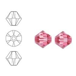 SWAROVSKI ELEMENTS Konisch Geslepen Glaskraal. Roze. 6mm. Per stuk