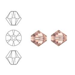 SWAROVSKI ELEMENTS Konisch Geslepen Glaskraal. Vintage Rose. 6mm. Per stuk