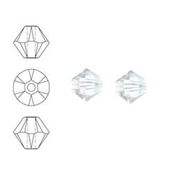 SWAROVSKI ELEMENTS Konisch Geslepen Glaskraal. 6mm. Crystal Moonlight.