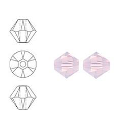 SWAROVSKI ELEMENTS Konisch geschnittene Glasperle. 6mm. Rosenwasser Opal.
