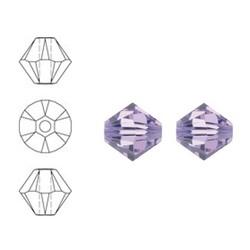 SWAROVSKI ELEMENTS Konisch geschnittene Glasperle. 6mm. Violett.