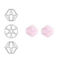 SWAROVSKI ELEMENTS Konisch Geslepen Glaskraal. 6mm. Roze Alabaster.