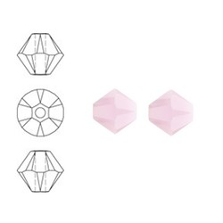 SWAROVSKI ELEMENTS Konisch Geslepen Glaskraal. Roze Alabaster. 6mm. Per stuk