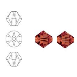 SWAROVSKI ELEMENTS Konisch geschnittene Glasperle. 6mm. Roter Magma