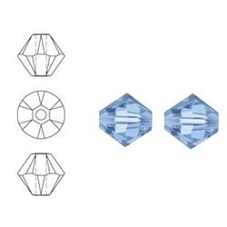 SWAROVSKI ELEMENTS Konisch Geslepen Glaskraal. 8mm. Light Sapphire
