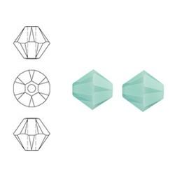 SWAROVSKI ELEMENTS Konisch Geslepen Glaskraal. Mint Alabaster. 8mm. Per stuk