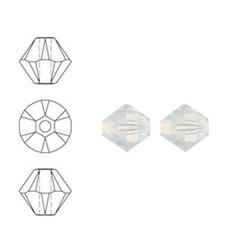 SWAROVSKI ELEMENTS Swarovski Konisch Geslepen Glaskraal. White Opal. 8mm. Per stuk