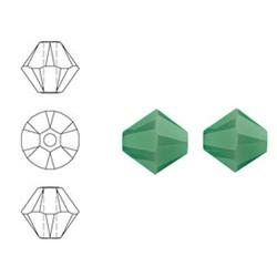 SWAROVSKI ELEMENTS Swarovski Konisch Geslepen Glaskraal. Palace Green Opal. 8mm. Per stuk