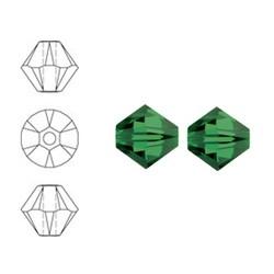 SWAROVSKI ELEMENTS Konisch Geslepen Glaskraal. 8mm. Fern Green.