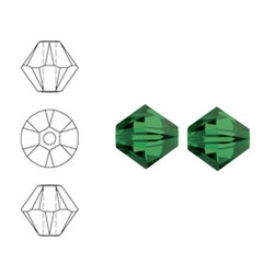 SWAROVSKI ELEMENTS Swarovski Konisch Geslepen Glaskraal. Fern Green. 8mm. Per stuk
