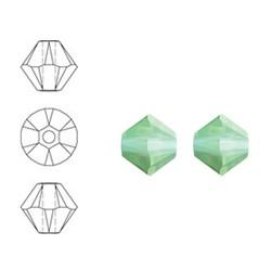 SWAROVSKI ELEMENTS Swarovski Konisch Geslepen Glaskraal. Crysolite Opal. 8mm. Per stuk