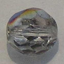 Facet geslepen Glaskraal. Crystal Vitrail Medium. 10mm. Tsjechisch.