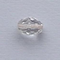 Facet Geslepen Glaskraal. Crystal. 13x10mm. Ovaal. (Tsjechisch).