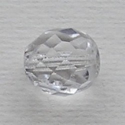 Facet geslepen Glaskraal. Crystal. 12mm. Tsjechisch.