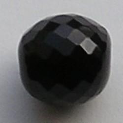 Facet geslepen Glaskraal. Zwart. 25mm. Tsjechisch.