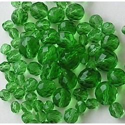 Facetkralenmix. Peridot. 50 gram. 6, 8, 10 en 12mm.