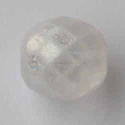 Facet geslepen Glaskraal. Crystal Mat Luster. 14mm. Tsjechisch