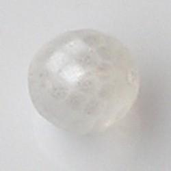 Facet geslepen Glaskraal. Crystal Mat Luster. 10mm. Tsjechisch.
