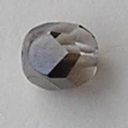 Facet geslepen Glaskraal. Crystal Titanium Special. 12mm. Tsjechisch.