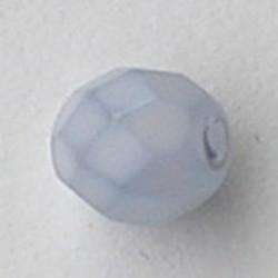 Facet geslepen Glaskraal. Lichtblauw Mat. 8mm. Tsjechisch