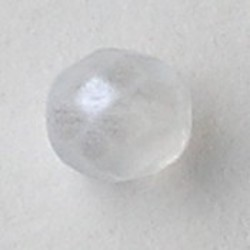 Facet geslepen Glaskraal. Crystal Mat Luster. 8mm. Tsjechisch