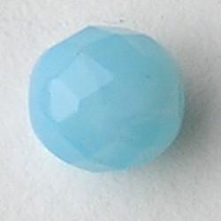 Turquoise Opal. Facetgeslepen Glaskraal. 8mm. Per stuk voor