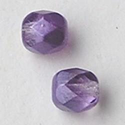 Purple Special Luster. Facetgeslepen Glaskraal. 6mm.