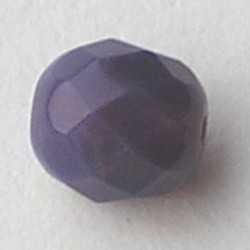 Purple Opal. Facetgeslepen Glaskraal. 8mm. Per stuk voor