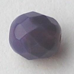 Purple Opal. Facetgeslepen Glaskraal. 8mm. Per stuk voor