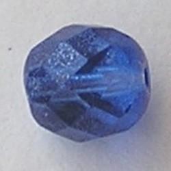 Jeans Blue Special Luster. Facetgeslepen Glaskraal. 10mm.