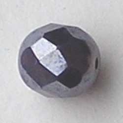 Purple Hematiet Luster Facetgeslepen Glaskraal. 8mm.