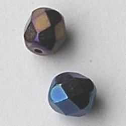 Iriserend Purple Facetgeslepen Glaskraal. 6mm.