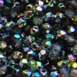 Facet Geslepen Glaskraal. Crystal Vitrail. 3mm. (Tsjechisch). 10 stuks voor
