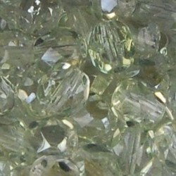 Facet geslepen Glaskraal. Crystal Veridian. 6mm. Tsjechisch.