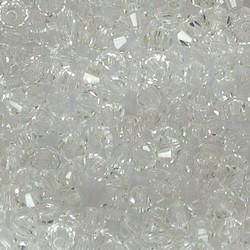 Tsjechisch Konisch Geslepen Glaskraal. 3mm. Crystal.