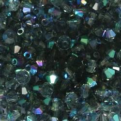 Tsjechisch Konisch Geslepen Glaskraal. 3mm. Montana Sapphire AB.