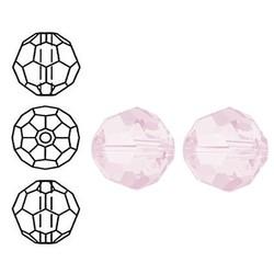 SWAROVSKI ELEMENTS Swarovski. Facetgeslepen Ronde Kraal. 6mm. Rose Water Opal.