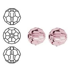 SWAROVSKI ELEMENTS Swarovski. Facetgeslepen Ronde Kraal. 6mm. Crystal Antique Pink.