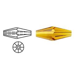 SWAROVSKI ELEMENTS Swarovski. Langwerpige Bicone. Topaas. 5x15mm.