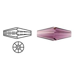 SWAROVSKI ELEMENTS Swarovski. Langwerpige Bicone. Amethist. 5x15mm.
