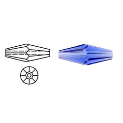 SWAROVSKI ELEMENTS Swarovski. Langwerpige Bicone. Sapphire. 5x15mm.