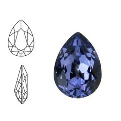 SWAROVSKI ELEMENTS Swarovski Druppel. Tanzanite. 14x10mm. Pointed Back.