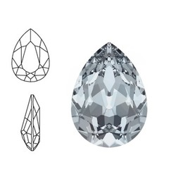 SWAROVSKI ELEMENTS Swarovski Druppel. (groot). Crystal Blue Shade. 14x10mm. Pointed Back.
