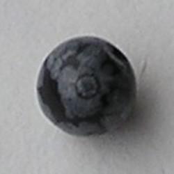 Snowflake Obsidan Kraal. 4mm.