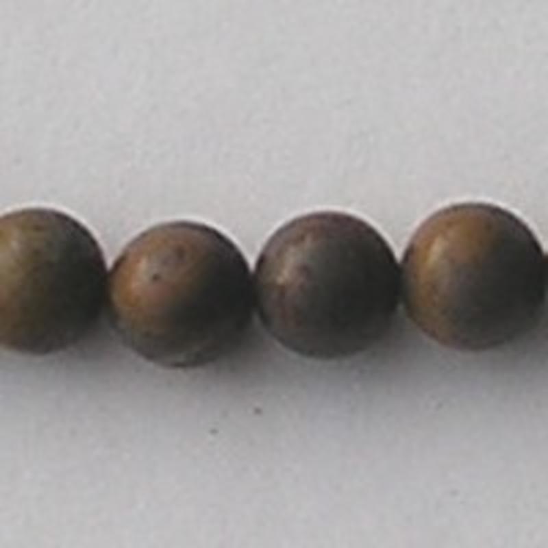 Crysantium Stone natural 8mm. kraal.
