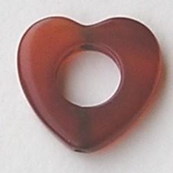 Red Agaat (natural) 22mm. Kraal Hart. open.