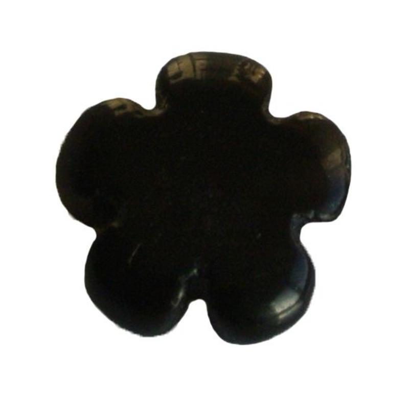 Blackstone kraal. Bloemetje. 12mm. Puffed.