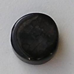 Grey Agaath. Rond platte kraal. 12mm.