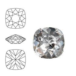 SWAROVSKI ELEMENTS Swarovski Vierkant. 4470-10mm. Crystal. Pointed Back.