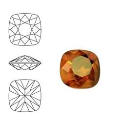 SWAROVSKI ELEMENTS Swarovski Vierkant. 4470-10mm. Crystal Copper. Pointed Back.